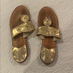 Jack Rogers gold sandals size 7